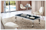 Modern Chinese Furniture Stainless Steel Glass Coffee Table