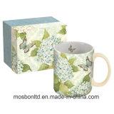 Branded Ceramic Blue Hydrangea Mug 14 Oz