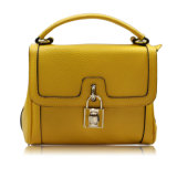 Elegant and Small Lady Cow Leather Bag with Buckle