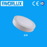 High Quality 6W Surface Mounted Round LED Panel Light