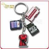 Promotion Gift Customized Soft PVC Keychain with Pendant