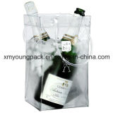 Promotional Portable Plastic PVC Wine Carrier Wine Cooler Bag