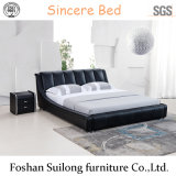 Ys7017 Real Leather Modern Bed Bedroom Furniture
