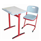 Simple Style of School Classrooms, Furniture, Students Desks and Chairs