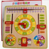 Wooden Educational Learning Clock Toy for Kids