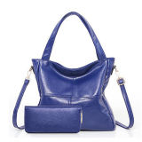 Ladies Handbags at Low Price Soft PU Leather Tote Shoulder Bag Set Hand Bag and Purses for Women Sy8561