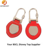 Top Sell Factory Price Leather Keychain with Metal Car Logo