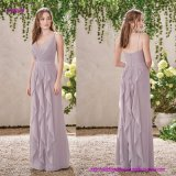 Bridesmaid Dress with a Waterfall of Ruffles Flowing on The Front and Back of Skirt
