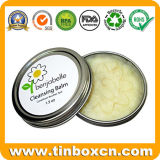 Cosmetic Packaging Round Metal Tin Container for Cleansing Balm