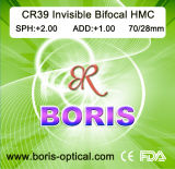 Cr39 1.499 Invisible Bifocal Hmc 70/28mm Optical Lens