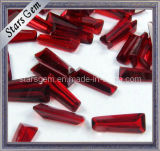 Dark Garnet Gemstone Trapezoid Shape Glass