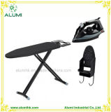 Hotel Foldable Ironing Table with Steam Iron and Iron Holder
