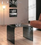 Modern Gray Coffee Table All Glass Design -CB002A