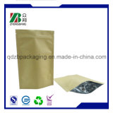 Stand up Zip Pouch Brown Kraft Paper Bags for Dried Food Packaging