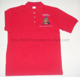 Customized Cotton Pique Mesh Red Polo Shirt with Embroidery