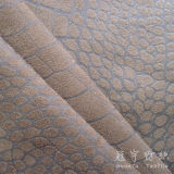 Crocodile Pattern Suede Sofa Fabric
