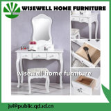 White Color MDF Dressing Table with Mirror (W-HY-057)