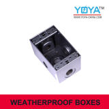 Aluminum Doudle Gang Weatherproof Electrical Box or Outlet Box
