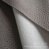 Embossed Suede Polyester Leather Fabric with Brushed Backing