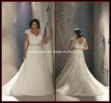 Plus Size Bridal Gowns Mermaid Tulle Lace Wedding Dress Rr9003
