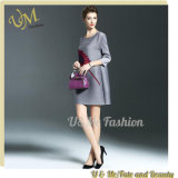 Flower Gray Lady Dress of Europe High End Design