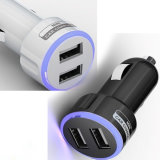 Universal 2.1A Mini Dual 2 Port LED Car USB Charger for iPhone 6 Plus Samsung Phones
