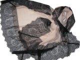100% Wool Diamond Lace Trim Shawl
