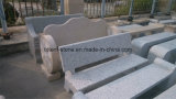Natural Polished Grey/Yellow Granite Stone Park Bench for Garden/Park