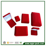 Plastic Handmade Red Velvet Square Jewelry Box