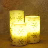 Paraffin Wax Material Christmas LED Lights Candles