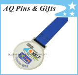 Soft Enamel Medal with Ribbon for Triathlon