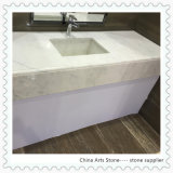 Chinese White Marble Slab for Bathroom Countertop
