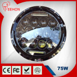 """Newest 75W 7"""" High Beam/ Low Beam 9V-32V Round Super Bright LED Driving Light LED Headlamp for Jeep Jk and Truck"""