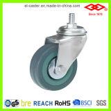 125mm Grey Rubber Instrumental Castor Wheel (L110-32C125X27)