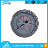 2′′ 50mm Axial Mounting Stainless Steel Glycerin Filled Pressure Gauge