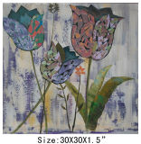 Best Price for Home Decoration Hand-Painted Tulip Oil Painting (LH-700563)