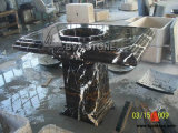 Custom Black Portoro Stone Marble Vanity Top for Bathroom / Kitchen