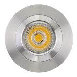 Lathe Aluminum GU10 MR16 Round Fixed Recessed LED Downtlight (LT2114)