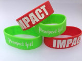 Silicone 25mm Inkfilled Wristbands Promotional Gifts