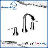 Three Hole Basin Faucet 8 Inch Brass Lavatory Faucet (AF0021-6)