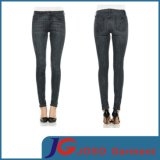 Women Black Curve Summer Denim Skinny Jeans (JC1185)