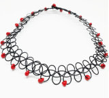 Tattoo Choker Necklace with Pendant/Fish Wire Necklace (XJW13520)