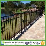 Flush Bottom Rail Yard Security Ornamental Iron Fence Panel