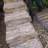 Natural Golden Yellow Slate Flexible Stone Veneer in Stock (SMC-SCP390)
