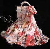 100% Silk Printed Luxury Long Shawl