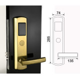 Modern Golden Mechanical Safe Mortise with Digital RF Card Electric Lock