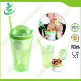 16oz Snack Tumbler with Straw and Lid, FDA/SGS Standard