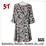 Custom Ladies Elegant Street Abstract Pattern Dress
