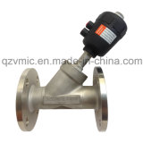 Flange Ss Angle Seat Valve Pneumatic Piston Control Valve Flanged End with ABS Plastic Cap