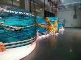 Outdoor Indoor Curved LED Display Panel 500X500 / 500X1000mm